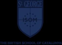 Logotipo en azul Colegio británico St George Barcelona
