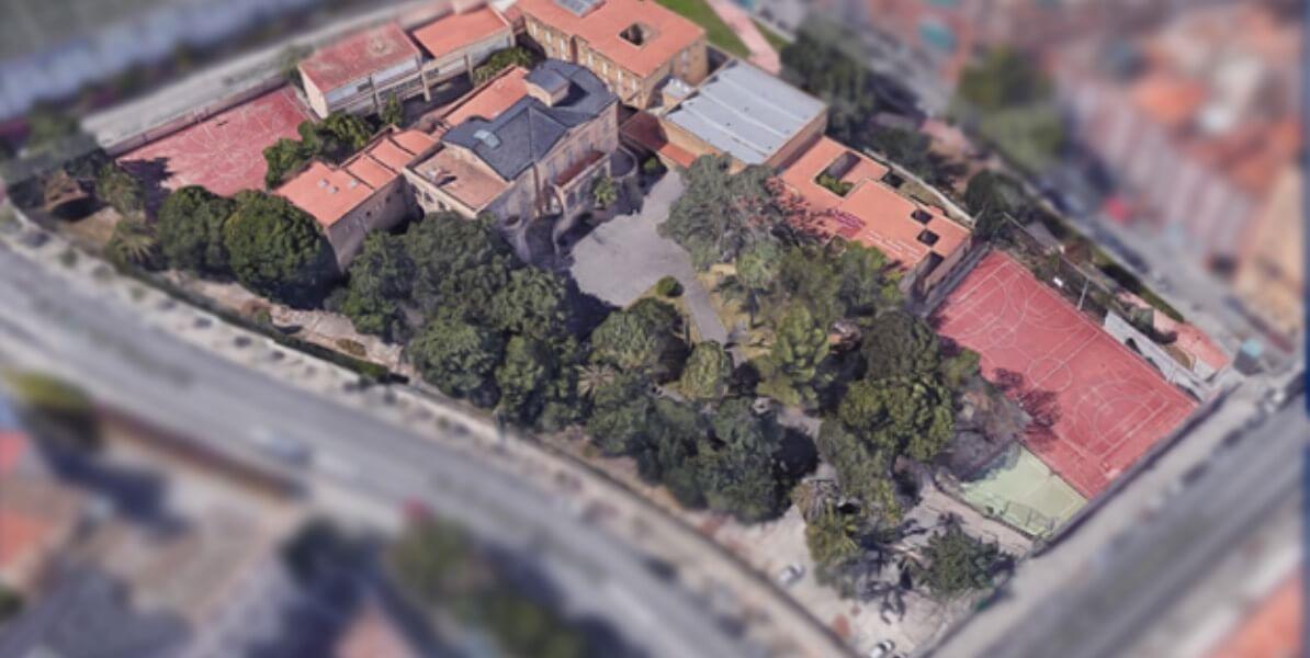 vista de pájaro instalaciones Colegio británico St George Barcelona