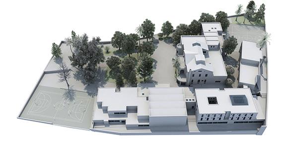 Maqueta del proyecto de nuevas instalaciones Colegio St George