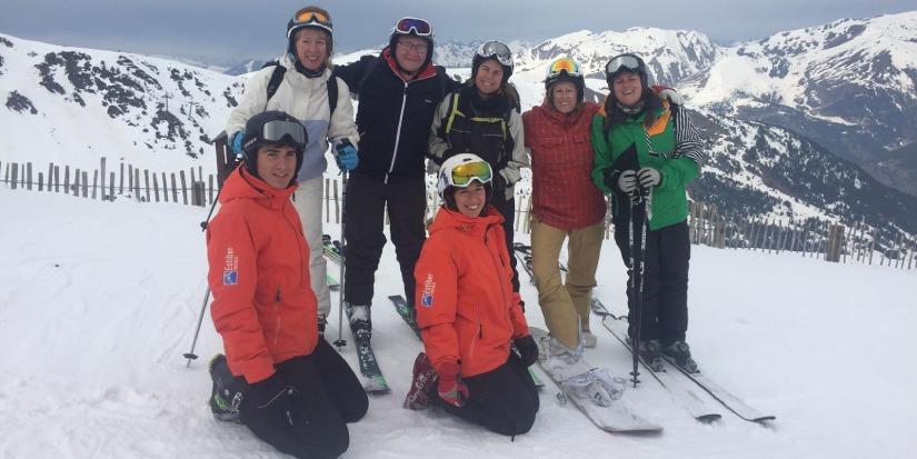 profesores viaje ski
